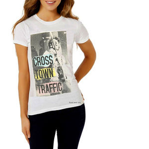 Jimi Hendrix Crosstown Traffic Girls Tee M -XL NWT